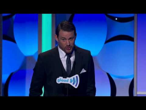Channing Tatum presents at the #glaadawards