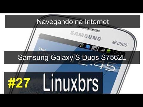 Samsung Galaxy S Duos GT - S7562 - Navegando na Internet - PT-BR