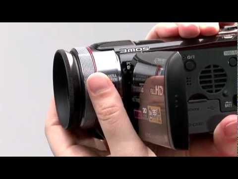 Filmadora da Panasonic grava em 3D