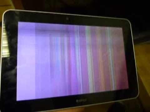 Почему мерцает экран на планшете