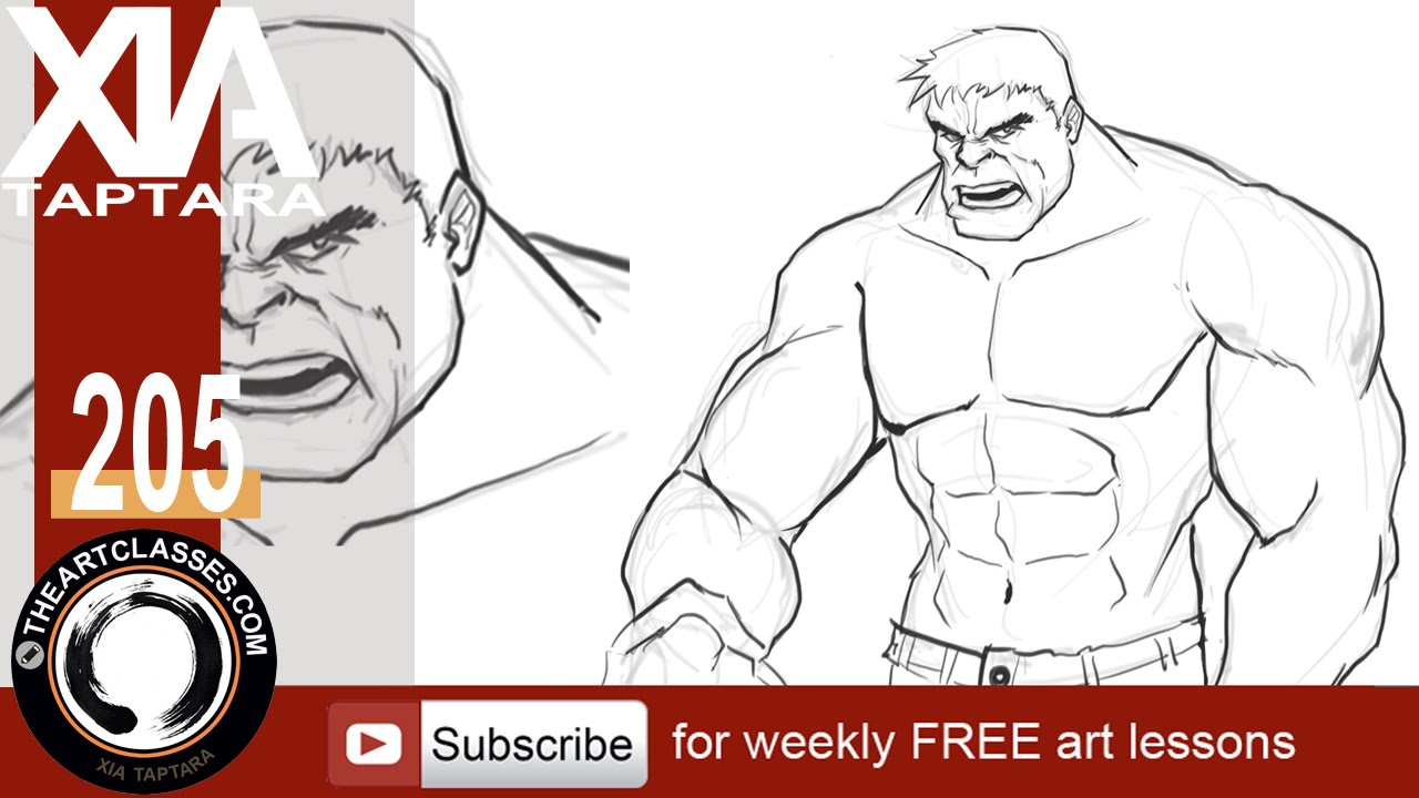 Easy Hulk Drawings How to draw the Hulk