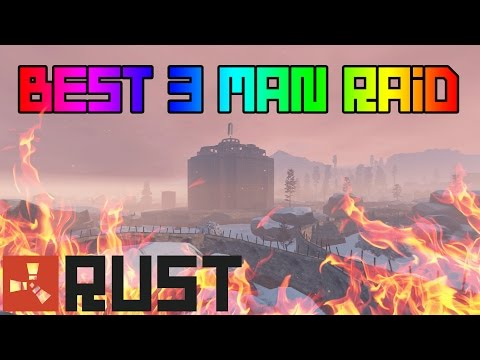 BEST 3 MAN RAID EVER! - Raiding A Clan Of 15 People (First Person Raid Rust)