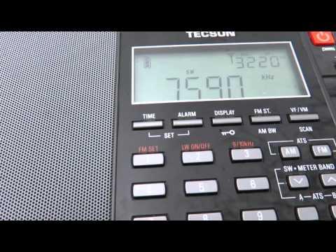 7590 kHz North Korea Reform Radio with sign off