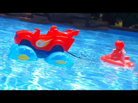 On Water Hills Monster Truck BLAZE and NICK TURBO. LEARN COLORS. EDUCATIONAL VIDEO FOR KIDS
