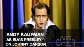Andy Kaufman Does Elvis