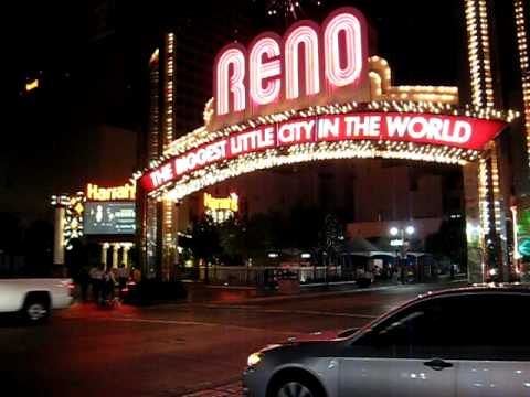 Night on Virginia Street, downtown Reno, Nevada