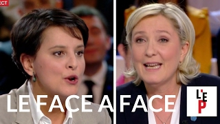 Face-à-face Marine Le Pen / Najat Vallaud-B. - L'Emission politique le 10 février 2017 (France 2)