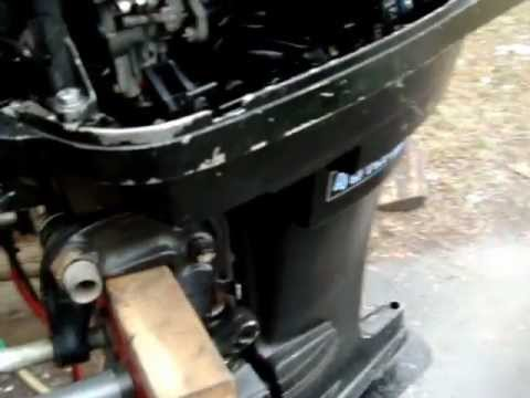 40 Hp Mercury Longshaft 1975 Outboard Motor Youtube