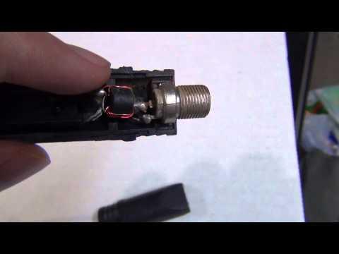 Inside a Coaxial Cable Balun (VHF/UHF Transformer)