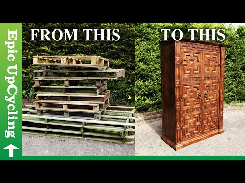 Pallet Wood Furniture. A Magical Wardrobe made out of Nothing But Recycled Lumber.