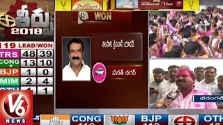 TRS Candidate Aroori Ramesh Speaks To Media Over His Triumph In TS Assembly Polls | Warangal