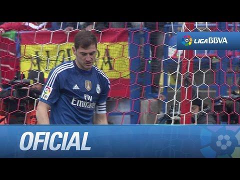Error de Casillas y gol de Tiago (1-0) en el Atlético de Madrid - Real Madrid
