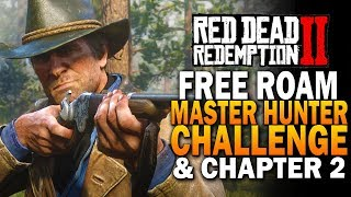 Free Roam, Master Hunter Challenges & CHapter 2 -  Red Dead Redemption 2 Xbox 4k Gameplay E1