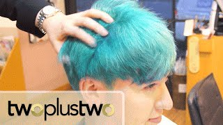 Getting KPOP Hair [TOP BLUE HAIR]