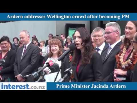 Jacinda Ardern in Wellington