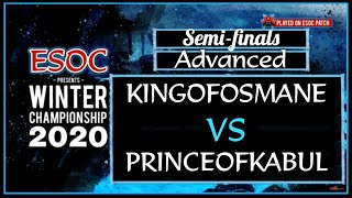 [AoE3] KINGofOsmane vs PrinceofKabul — Advanced Division SEMI-FINALS! — ESOC Winter Championship