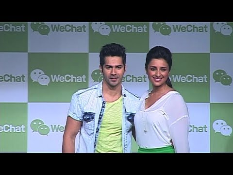 Watch Varun - Parineeti At 'WeChat' Application Launch