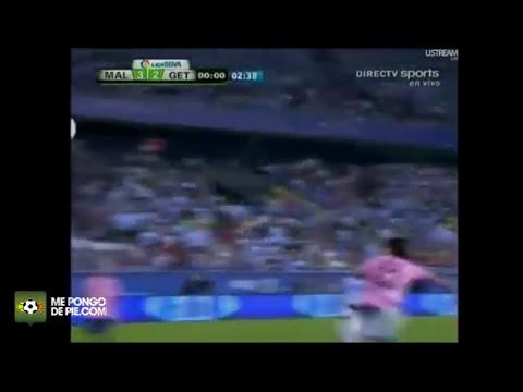 Golazo de Julio Baptista (chilena) ( Málaga 3-2 Getafe)