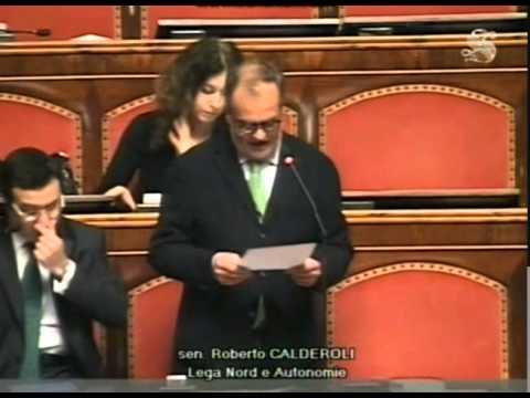 Calderoli: l'assenza di Alfano è uno schiaffo alla costituzione