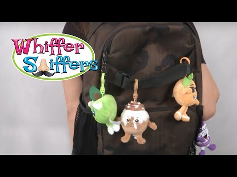 Orange, Green Apple & Grape Scented Backpack Clip from Whiffer Sniffers