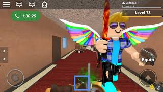 Playing with my new bud on roblox