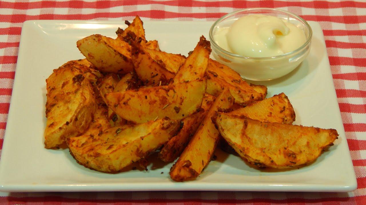 C mo hacer patatas al horno adobadas youtube - Patatas pequenas al horno ...