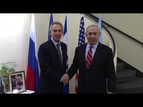 Prime Minister Benjamin Netanyahu meets with Tony Blair
