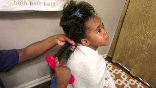 Felicia Leatherwood Detangling Brush Natural Hair Kids vlog 5/21/15