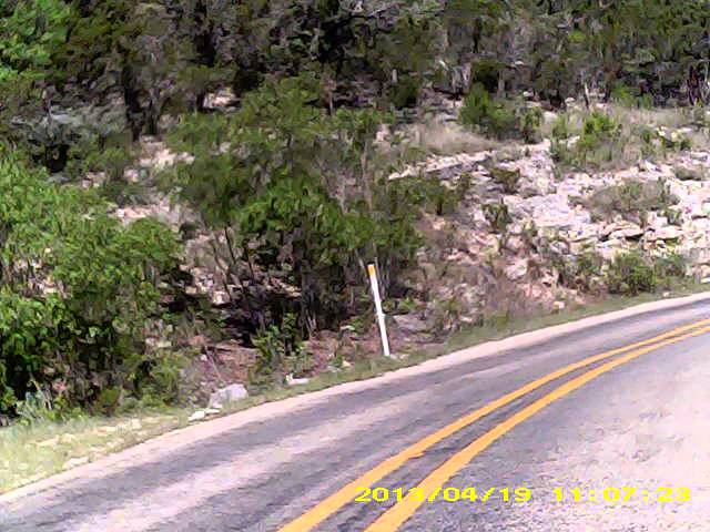 Hwy 337 from Foxfire Cabins in Vanderpool Texas to Leakey (car edited out)