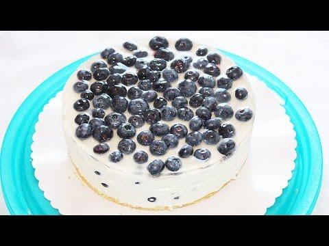 Творожный торт с черникой! Без выпечки