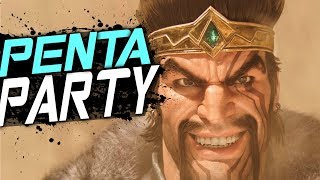 There´s no PENTAKILL PARTY like Vincent's Draven!!  - VINCENT MONTAGE#26 + FunnyMoments -《文森特之jian