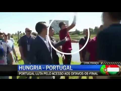 Cristiano Ronaldo atira microfone da CMTV para um Lago!!!