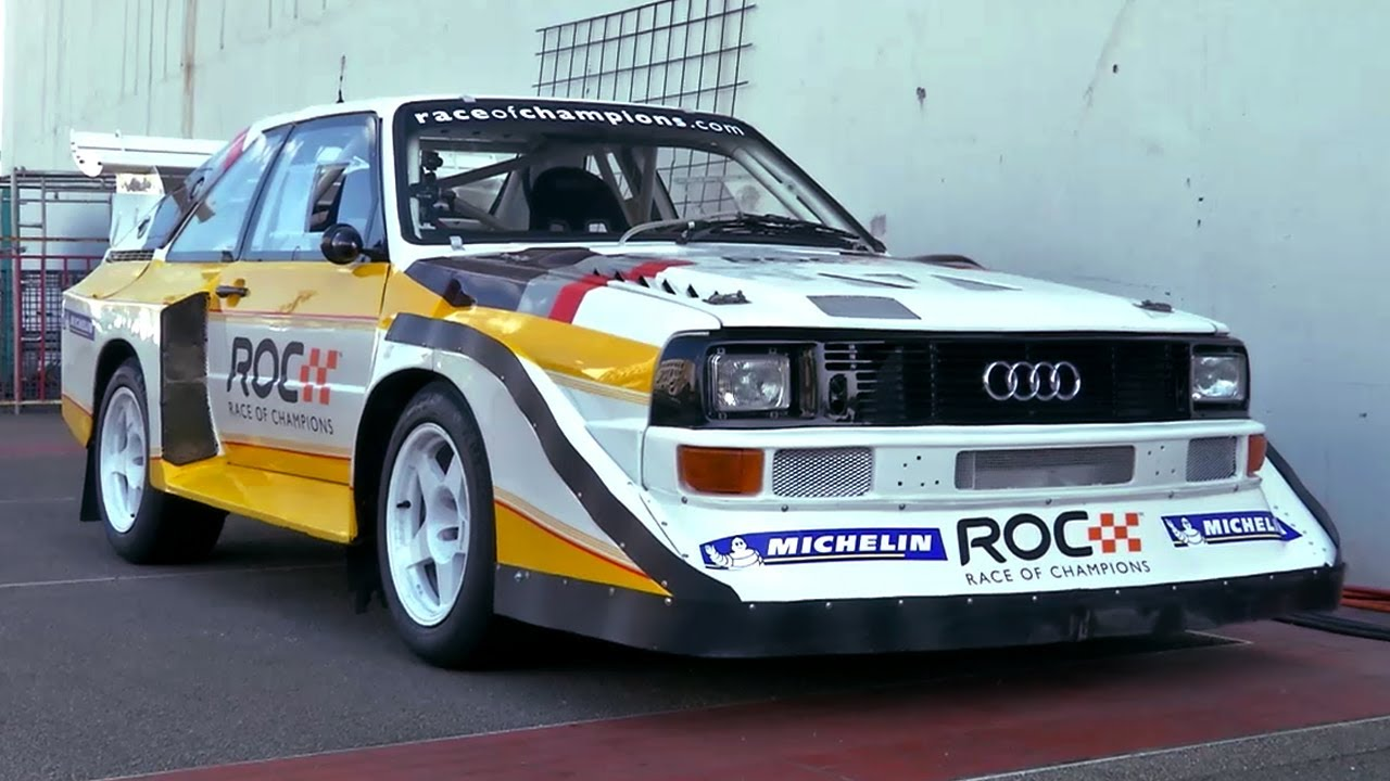 audi s1 quattro rally car with stig blomqvist at race of. Black Bedroom Furniture Sets. Home Design Ideas