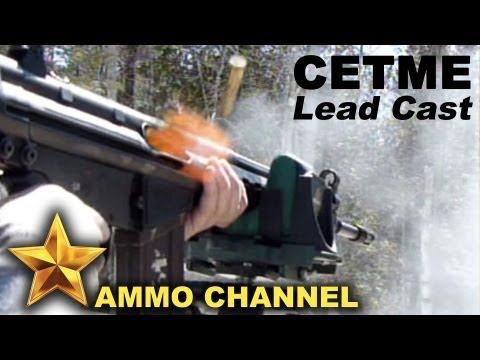CETME battle rifle shooting homemade lead cast bullets