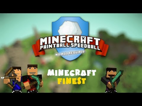 Minecraft: Paintball! w/ xRpMx13 and IAmTheAttack! Game 1 - Scumbag Squad vs MF!