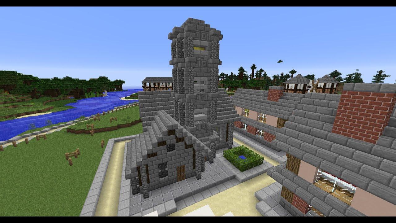 D'une église Minecraft
