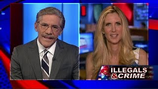 Ann Coulter and Geraldo Rivera battle on crimes committed by illegal immigrants.