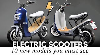 10 New Electric Scooters to Buy in 2019: Comparison of Innovative Features