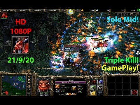 ★DoTa Doom Lucifer - GamePlay 6.83★!KDA: 21/9/20!★Solo Mid!!!★