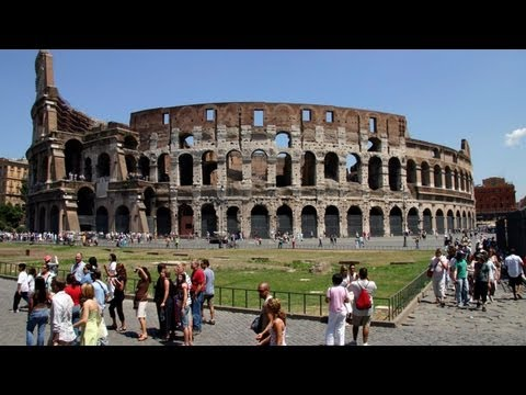 Colosseum(Flavian Amphitheatre) - Elliptical Amphitheatre, Rome, Italy