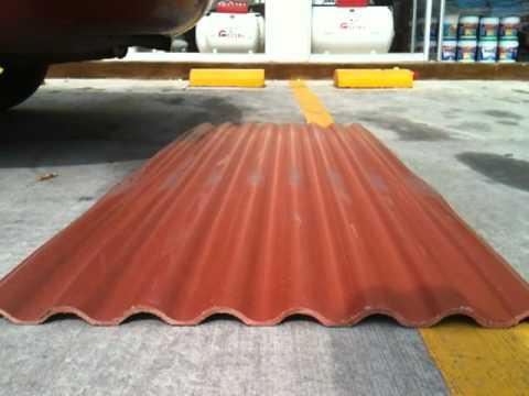 Lamina acrilica para techo