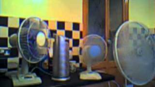 Desk fan collection(OLD VIDEO)