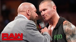 Triple H and Randy Orton meet before WWE Super ShowDown: Raw, June 3, 2019