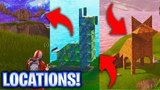 Llama, Fox & Crab Locations! (Fortnite Battle Royale Season 3 Challenges!)