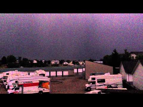 Post Falls, Idaho Biggest Lightning Storm In Years video