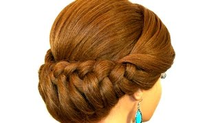 Braided Updo Hairstyle for Medium Long Hair Tutorial