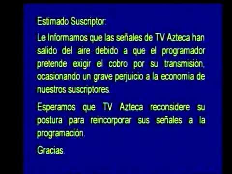 TV Azteca quiere cobrar por ver sus canales de television abierta en TV de paga. [13/02/12]