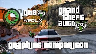 GTA 5 Redux Mod vs Original Graphics Comparison 1080p
