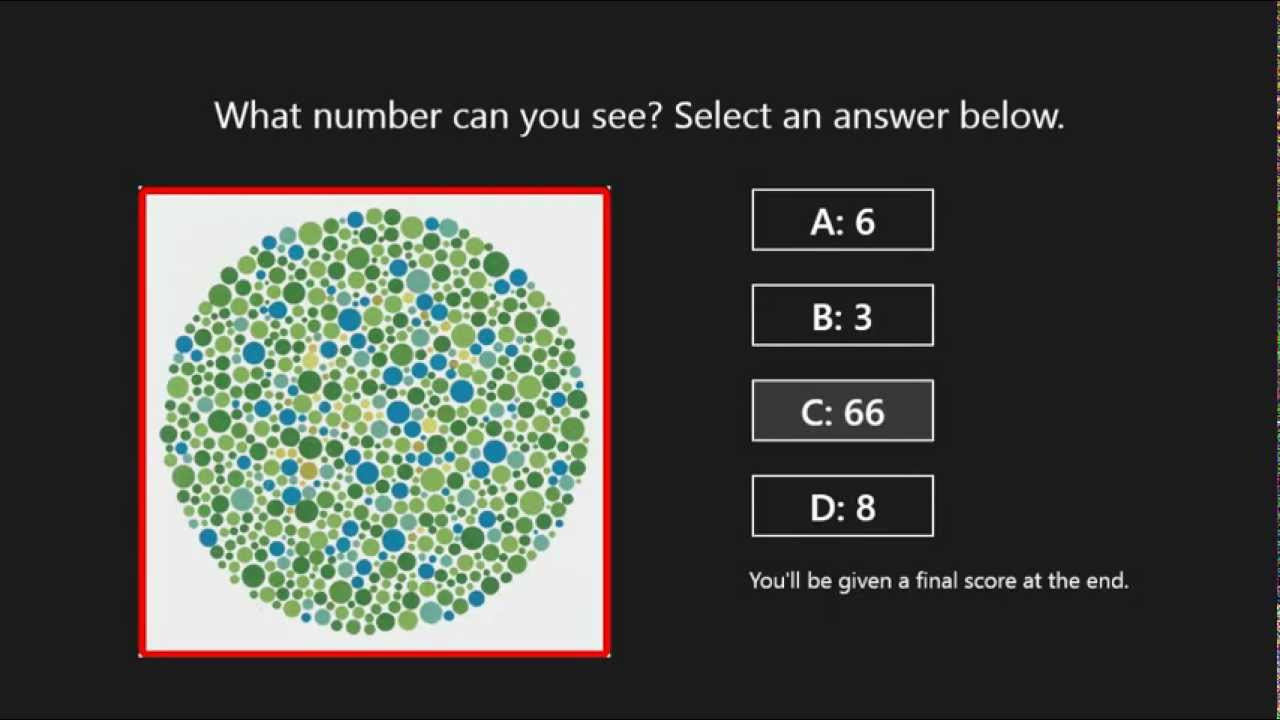 how to explain what color blind test is