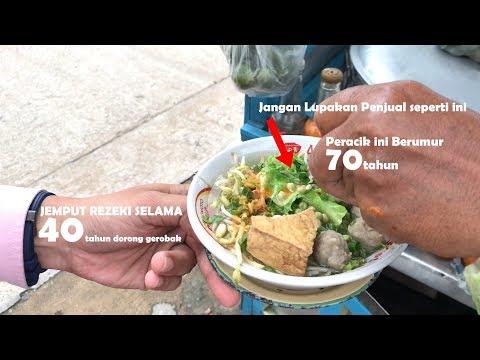LUAR BIASA !! PERACIK BAKSO 40 TAHUN YG MASIH DORONG GEROBAK | INDONESIA STREET FOOD #398
